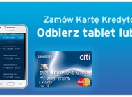 Bezpłatna karta kredytowa z tabletem lub smartfonem